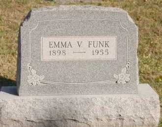 FUNK, EMMA V. - Hocking County, Ohio | EMMA V. FUNK - Ohio Gravestone Photos