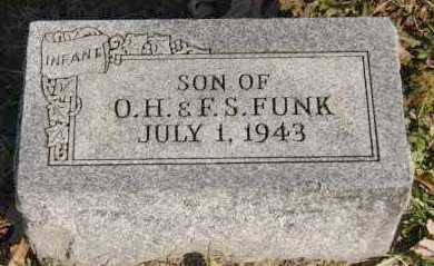 FUNK, INFANT SON - Hocking County, Ohio | INFANT SON FUNK - Ohio Gravestone Photos
