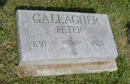 GALLAGHER, PETER - Hocking County, Ohio | PETER GALLAGHER - Ohio Gravestone Photos