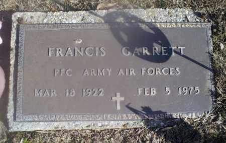 GARRETT, FRANCIS - Hocking County, Ohio   FRANCIS GARRETT - Ohio Gravestone Photos