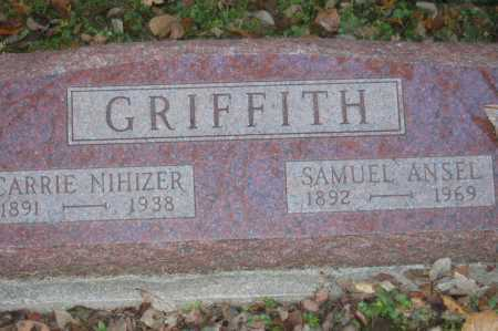 NIHISER GRIFFITH, CARRIE SABRE - Hocking County, Ohio | CARRIE SABRE NIHISER GRIFFITH - Ohio Gravestone Photos