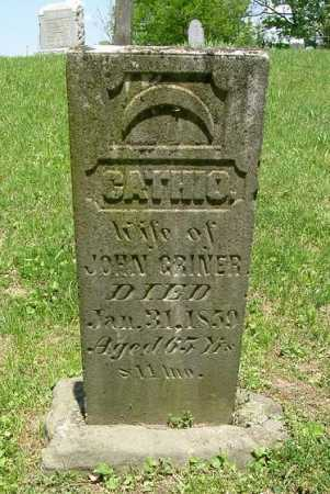 GRINER, CATHIO. - Hocking County, Ohio | CATHIO. GRINER - Ohio Gravestone Photos