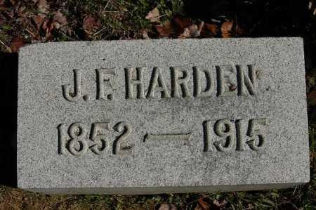 HARDEN, J. F. - Hocking County, Ohio | J. F. HARDEN - Ohio Gravestone Photos