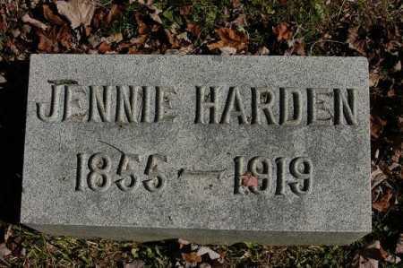 HARDEN, JENNIE - Hocking County, Ohio | JENNIE HARDEN - Ohio Gravestone Photos