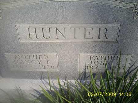 HUNTER, NANCY E. - Hocking County, Ohio | NANCY E. HUNTER - Ohio Gravestone Photos