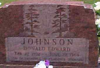 JOHNSON, DONALD EDWARD - Hocking County, Ohio | DONALD EDWARD JOHNSON - Ohio Gravestone Photos