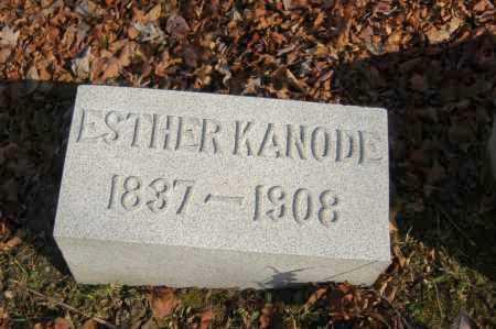 KANODE, ESTHER - Hocking County, Ohio | ESTHER KANODE - Ohio Gravestone Photos