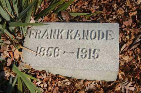 KANODE, FRANK - Hocking County, Ohio   FRANK KANODE - Ohio Gravestone Photos
