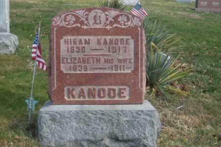 KANODE, ELIZABETH - Hocking County, Ohio | ELIZABETH KANODE - Ohio Gravestone Photos