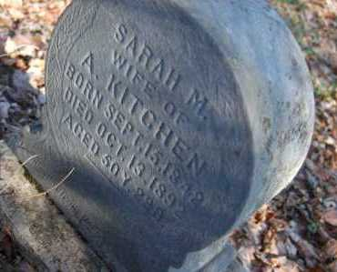 KITCHEN, SARAH M. - Hocking County, Ohio | SARAH M. KITCHEN - Ohio Gravestone Photos