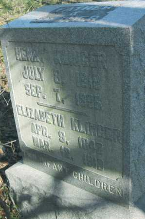 KLINGER, HENRY - Hocking County, Ohio | HENRY KLINGER - Ohio Gravestone Photos