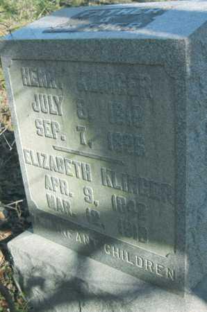 KLINGER, ELIZABETH - Hocking County, Ohio | ELIZABETH KLINGER - Ohio Gravestone Photos