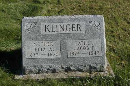 KLINGER, JACOB & ETTA - Hocking County, Ohio | JACOB & ETTA KLINGER - Ohio Gravestone Photos
