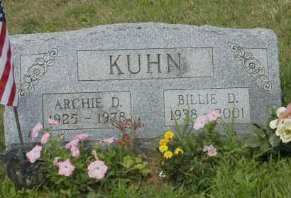 KUHN, BILLIE D. - Hocking County, Ohio | BILLIE D. KUHN - Ohio Gravestone Photos