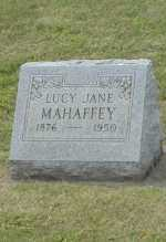 MAHAFFEY, LUCY JANE - Hocking County, Ohio | LUCY JANE MAHAFFEY - Ohio Gravestone Photos