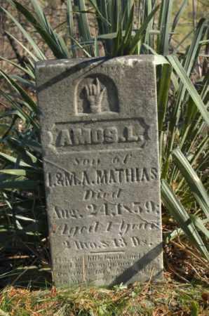 MATHIAS, AMOS L - Hocking County, Ohio | AMOS L MATHIAS - Ohio Gravestone Photos