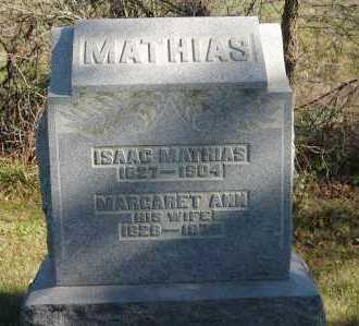 MATHIAS, ISAAC - Hocking County, Ohio   ISAAC MATHIAS - Ohio Gravestone Photos