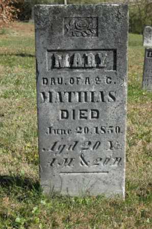 MATHIAS, MARY - Hocking County, Ohio   MARY MATHIAS - Ohio Gravestone Photos