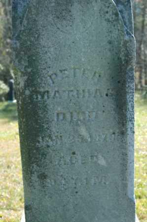 MATHIAS, PETER - Hocking County, Ohio | PETER MATHIAS - Ohio Gravestone Photos