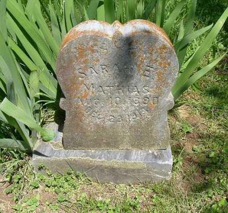 MATHIAS, SARAH E. - Hocking County, Ohio   SARAH E. MATHIAS - Ohio Gravestone Photos