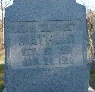 MATHIAS, SARAH ELIZABETH - Hocking County, Ohio | SARAH ELIZABETH MATHIAS - Ohio Gravestone Photos