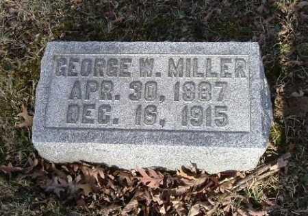 MILLER, GEORGE W. - Hocking County, Ohio   GEORGE W. MILLER - Ohio Gravestone Photos