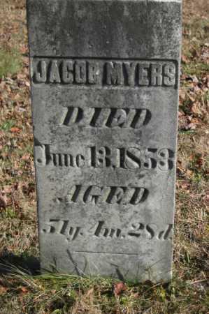 MYERS, JACOB - Hocking County, Ohio | JACOB MYERS - Ohio Gravestone Photos