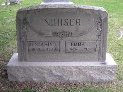 NIHISER, BENJAMIN F. - Hocking County, Ohio | BENJAMIN F. NIHISER - Ohio Gravestone Photos