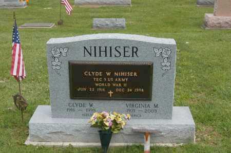 NIHISER, CLYDE W - Hocking County, Ohio | CLYDE W NIHISER - Ohio Gravestone Photos