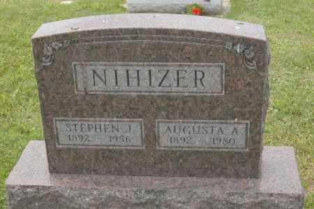 NIHIZER, AUGUSTA A. - Hocking County, Ohio | AUGUSTA A. NIHIZER - Ohio Gravestone Photos