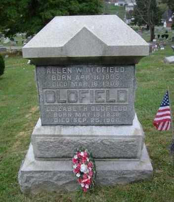 OLDFIELD, ALLEN W. - Hocking County, Ohio | ALLEN W. OLDFIELD - Ohio Gravestone Photos