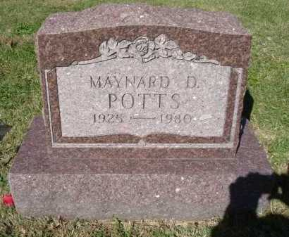POTTS, MAYNARD D. - Hocking County, Ohio   MAYNARD D. POTTS - Ohio Gravestone Photos