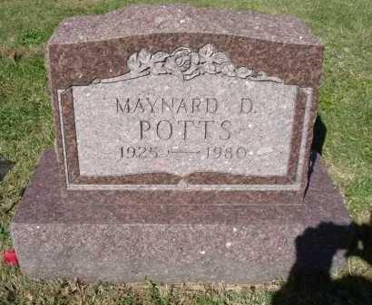 POTTS, MAYNARD D. - Hocking County, Ohio | MAYNARD D. POTTS - Ohio Gravestone Photos