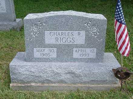 RIGGS, CHARLES R. - Hocking County, Ohio   CHARLES R. RIGGS - Ohio Gravestone Photos