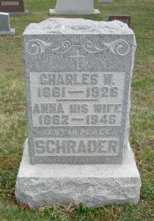 SCHRADER, CHARLES W. - Hocking County, Ohio | CHARLES W. SCHRADER - Ohio Gravestone Photos