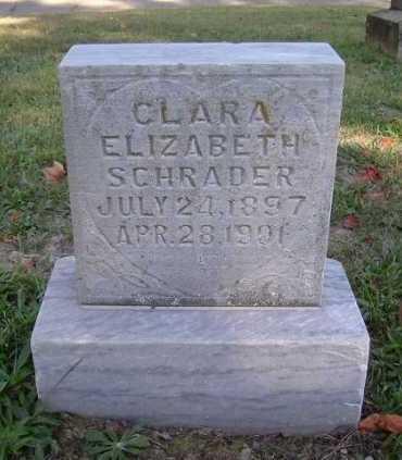 SCHRADER, CLARA ELIZABETH - Hocking County, Ohio   CLARA ELIZABETH SCHRADER - Ohio Gravestone Photos