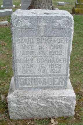 SCHRADER, DAVID - Hocking County, Ohio | DAVID SCHRADER - Ohio Gravestone Photos