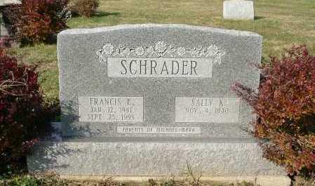 SCHRADER, FRANCIS E. - Hocking County, Ohio | FRANCIS E. SCHRADER - Ohio Gravestone Photos