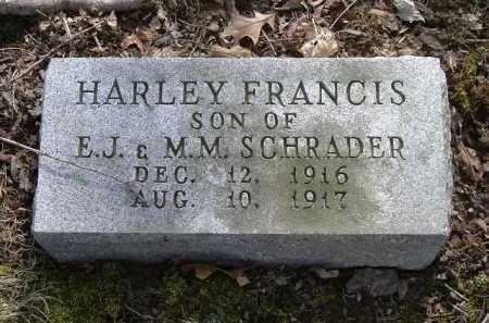 SCHRADER, HARLEY FRANCIS - Hocking County, Ohio   HARLEY FRANCIS SCHRADER - Ohio Gravestone Photos