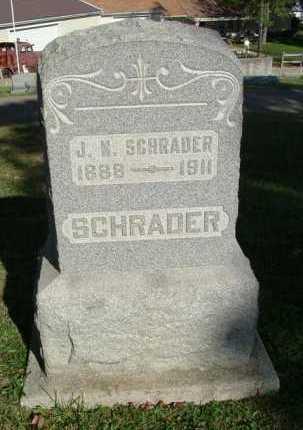 SCHRADER, J. N. - Hocking County, Ohio   J. N. SCHRADER - Ohio Gravestone Photos