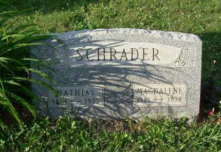 SCHRADER, MATHIAS - Hocking County, Ohio | MATHIAS SCHRADER - Ohio Gravestone Photos