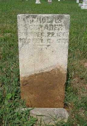 SCHRADER, NICHOLAS - Hocking County, Ohio | NICHOLAS SCHRADER - Ohio Gravestone Photos
