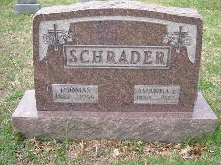SCHRADER, THOMAS - Hocking County, Ohio | THOMAS SCHRADER - Ohio Gravestone Photos
