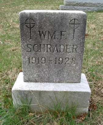 SCHRADER, WILLIAM F. - Hocking County, Ohio | WILLIAM F. SCHRADER - Ohio Gravestone Photos