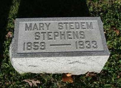 STEDEM STEPHENS, MARY - Hocking County, Ohio | MARY STEDEM STEPHENS - Ohio Gravestone Photos