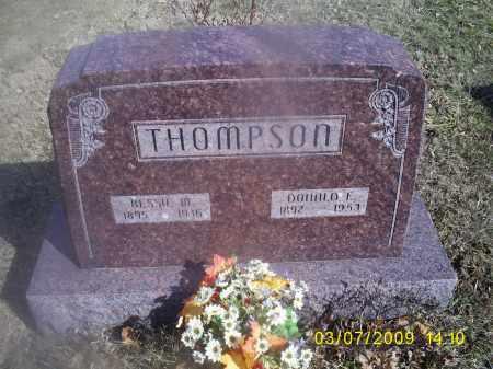 THOMPSON, BESSIE M. - Hocking County, Ohio | BESSIE M. THOMPSON - Ohio Gravestone Photos