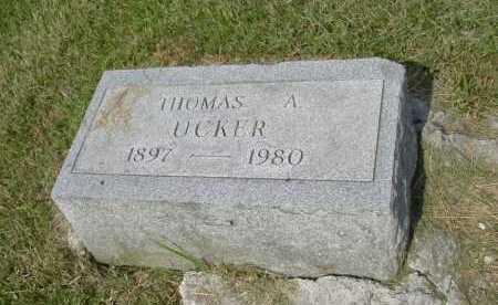 UCKER, THOMAS A. - Hocking County, Ohio   THOMAS A. UCKER - Ohio Gravestone Photos