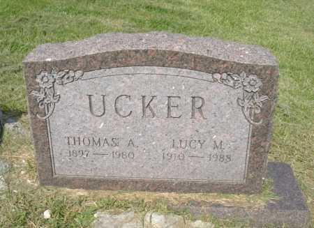 UCKER, LUCY M. - Hocking County, Ohio | LUCY M. UCKER - Ohio Gravestone Photos