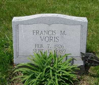 VORIS, FRANCIS MARION - Hocking County, Ohio | FRANCIS MARION VORIS - Ohio Gravestone Photos