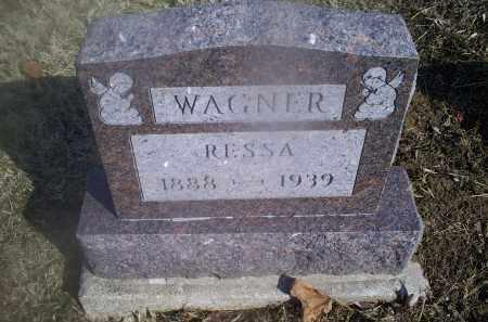 WAGNER, RESSA - Hocking County, Ohio | RESSA WAGNER - Ohio Gravestone Photos